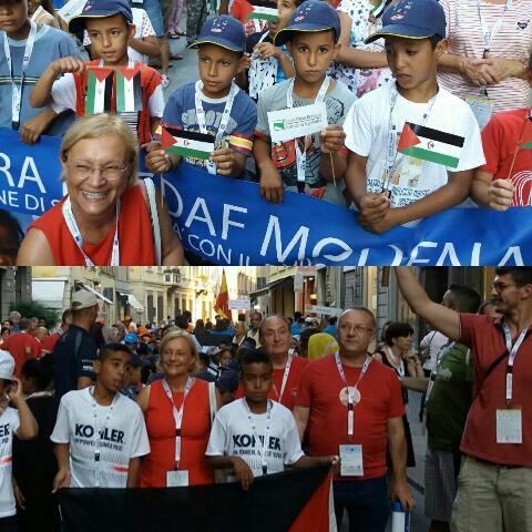 رئيسة برلمان مقاطعة إيميليا رومانيا تشارك في تظاهرات داعمة للقضية الوطنية وتلتقي رسل سلام الدولة الصحراوية