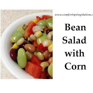 Bean Salad with Corn, Tomato & Apple Cider Vinegar Dressing Recipe
