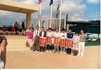 華協冬泳頒發紀念旗 予各泳會