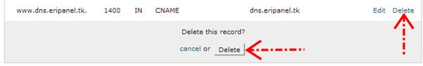 Menghapus record