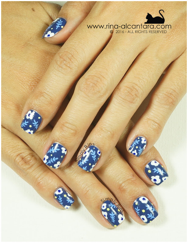 Don't Be Blue Nail Art Design by Simply Rins