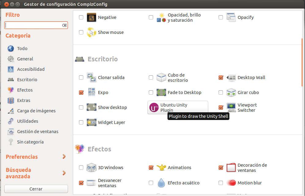 compiz%2520setting%2520unity Mejora el rendimiento de Unity en Ubuntu