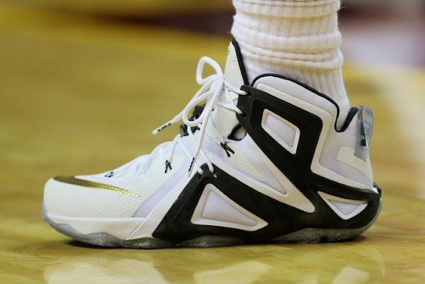 LeBrons Game 3 Shoe Close Ups  LeBron 12 Elite PE amp Witness GR
