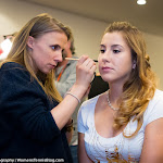 STUTTGART, GERMANY - APRIL 18 : Belinda Bencic at the 2016 Porsche Tennis Grand Prix makeup & style lounge