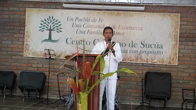 """Elisaut Mastre, indigenous minister to his own people, the Wiwa of Colombia:"""" The animist needs to learn about our Almighty God."""""""