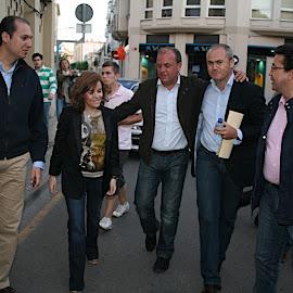 Mitin del PP en Montijo con Pantoja, Soraya y Monago