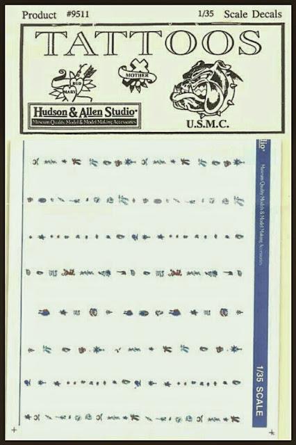 calcas de tatuajes para miniaturas de Hudson & Allen Studio