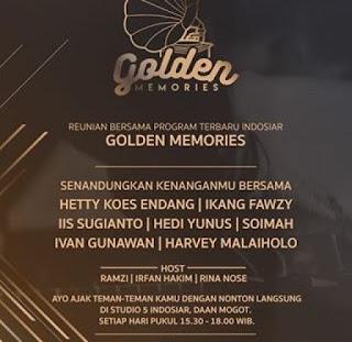 telah hadir ajang golden memories di Indosiar, siapa saja juri dan komentatornya?