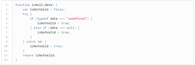 null and undefined check in javascript screenshot