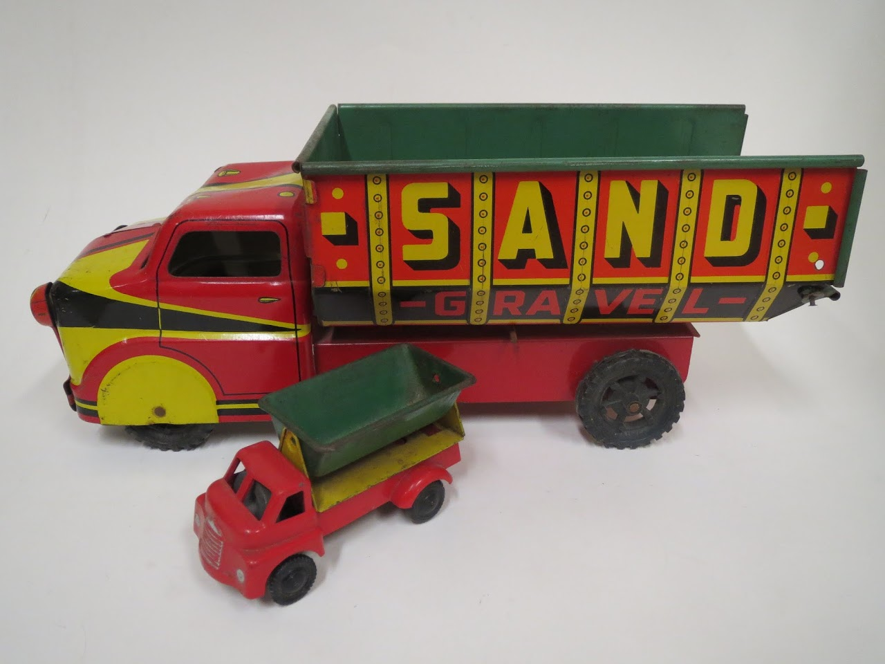 Vintage  Sand Gravel Excavating Truck Pair