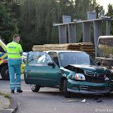 Ongeval kruising Feiko Clockstraat - Winschoterweg - Foto's Teunis Streunding