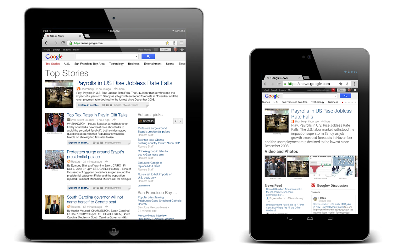 Google News Tablet-Version