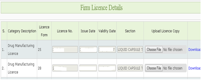 Update Licence FDA MP