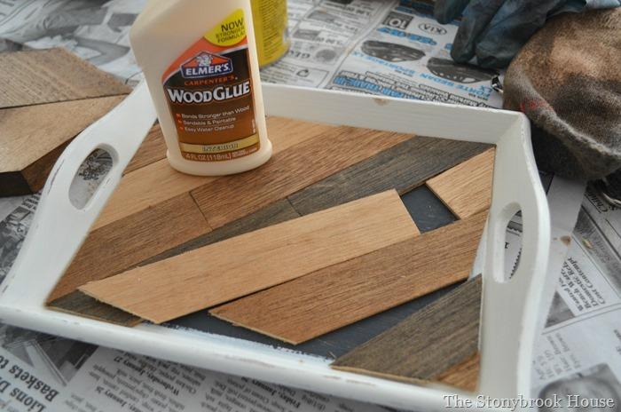 Arranging wood slats