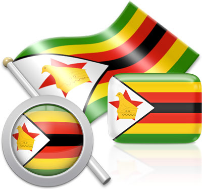 Zimbabwean flag icons pictures collection
