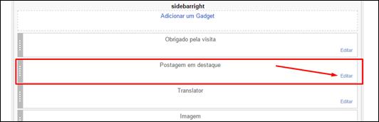 Blogger ganha novo gadget - postagem em destaque - Visual DicasBlogger ganha novo gadget - postagem em destaque - Visual Dicas
