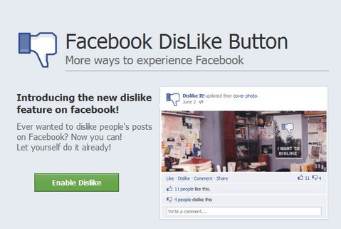 Fake Facebook Dislike Button Spreaded through anonymous Facebook App