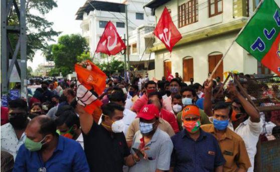 LDF Leads, BJP gains in Kerala   ಕೇರಳ ಸ್ಥಳೀಯ ಸಂಸ್ಥೆ ಚುನಾವಣೆ: ಎಡ ಪಾರಮ್ಯ, ಬಿಜೆಪಿ ಉತ್ತಮ ಸಾಧನೆ