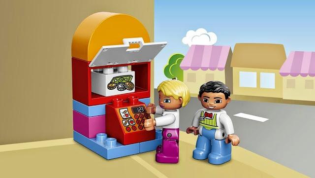 Chiếc máy rút tiền tự động của bộ Lego Duplo 10587 Quán Cafe giải khát