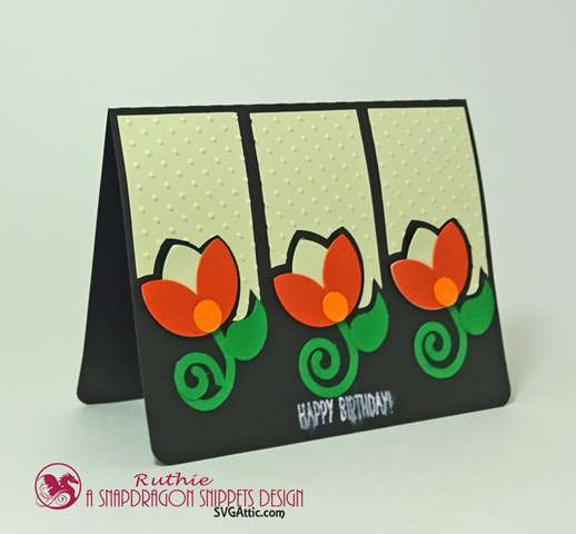 Tulips Sprigs Trio Card, SnapDragon Snippets, Ruthie Lopez 2