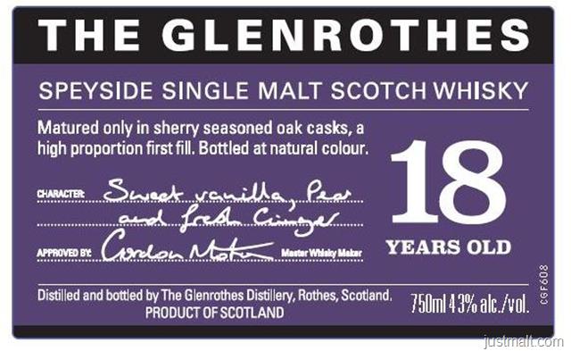 The Glenrothes 18-Year Speyside Single Malt Scotch Whiskey