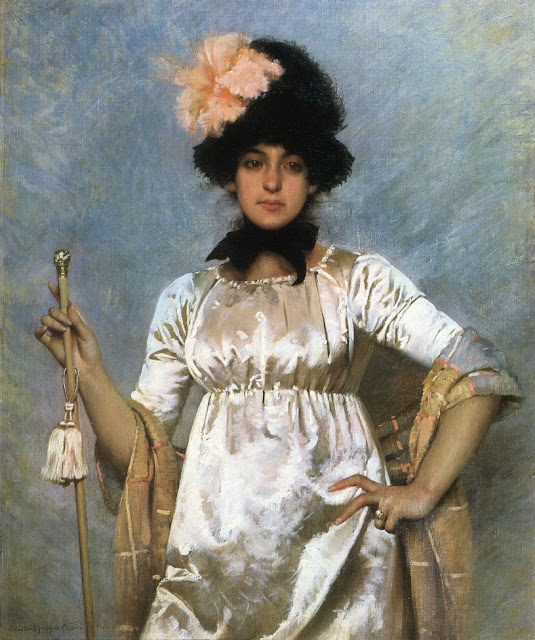 Charles Sprague Pearce – Woman of the Directoire (c. 1884)