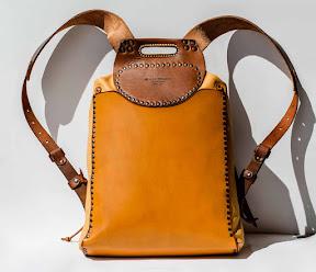 рюкзак кожаный ручной работы. персонализация art 151 Kot