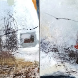 """Soaring. diptych 24"""" x 48"""" Oil on Canvas"""