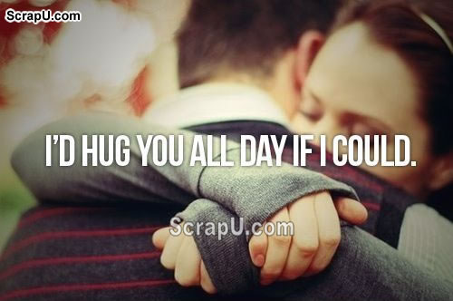 A silent hug means a thousand words Cards