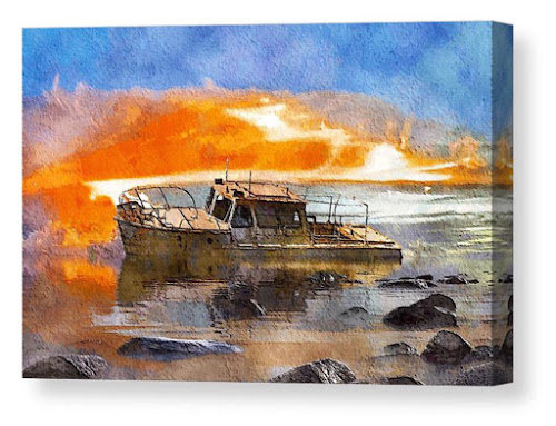 Beached Wreck by Mark Taylor
