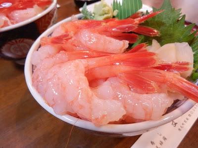 甘エビ丼(まつくら・増毛町)