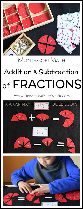 Montessori Addition and Subtraction of Fractions