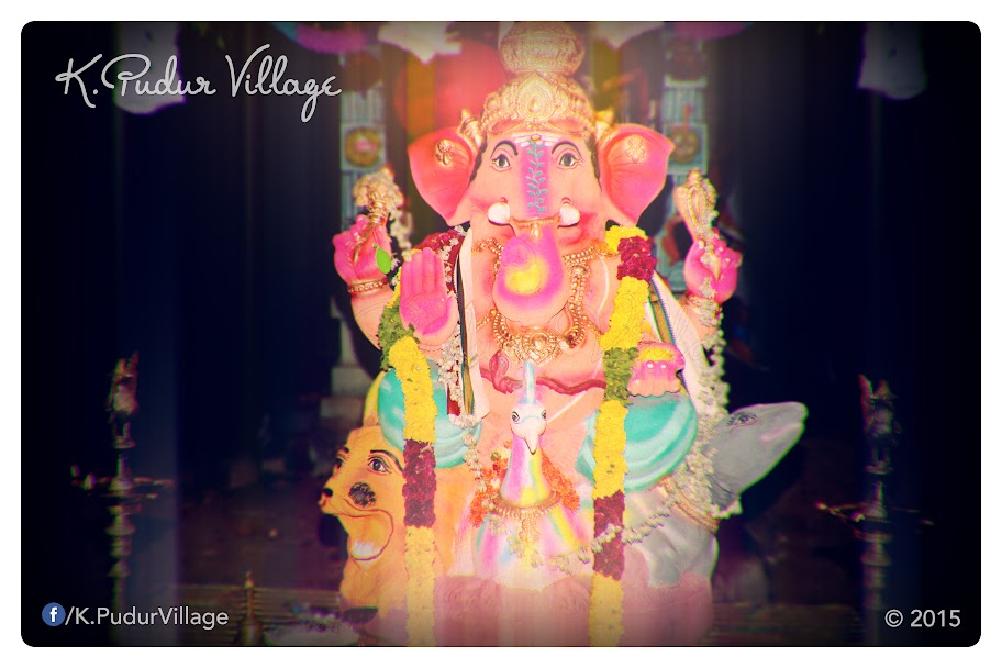 K.Pudur Village Vinayaka Chaturthi festival celebration 2015 (The front of Vinayaka statue)