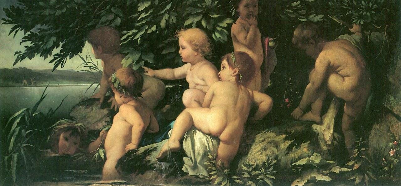 Anselm Feuerbach - Badende Kinder