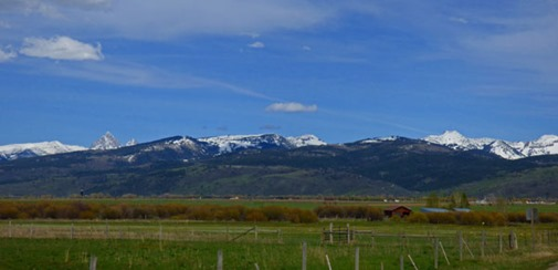 West side of Tetons, near Victor Idaho