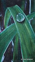 """""""Element - Wasser: Tropfen"""", Öl auf Leinwand, 20x35, 2003"""