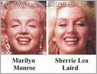 A reencarnação de Marilyn Monroe como Sherrie Lea Laird