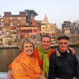 Judy, Charles, Grant on the Ganges at Varanasi, India