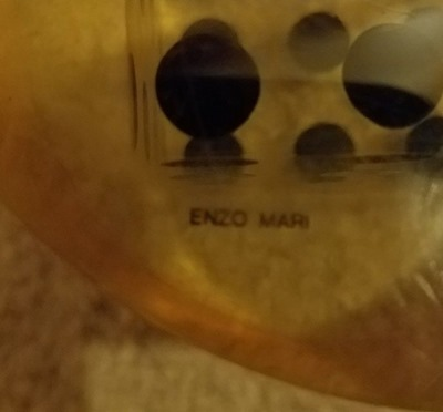 Enzo Mari cylinder sculpture signed inside