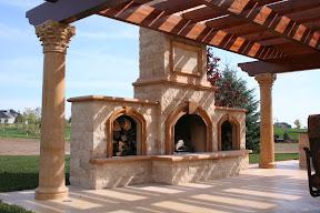 Exterior, Fireplaces, Gallery, Landscape Decor, Pavers