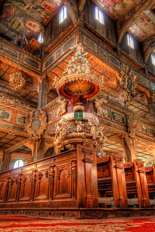 Church of Peace | Świdnica, Poland  Built in one year completely from wood, the Church of Peace is a...