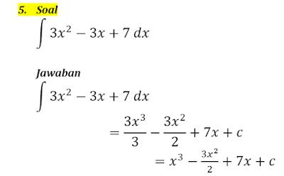 contoh integral tak tentu 5