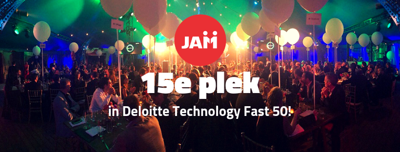 JAMwerkt 15e plaats bij Deloitte Fast 50 Awards Ceremony