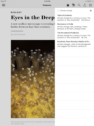 Screenshot 6 for Scientific American's Android app'
