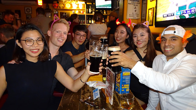 celebrating a birthday with friends at ON TAP, Taipei, Taiwan in Taipei, T'ai-pei county, Taiwan