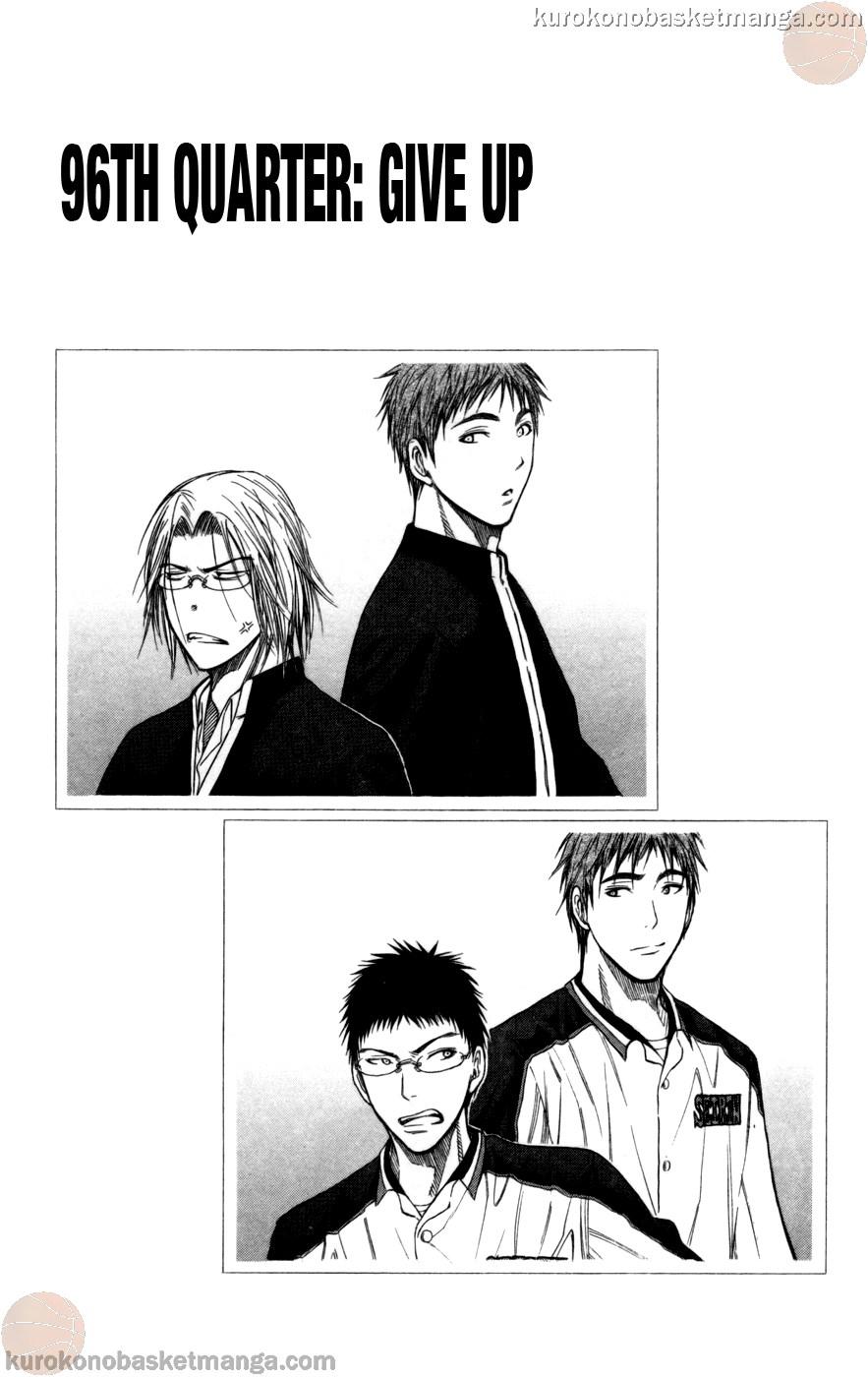 Kuroko no Basket Manga Chapter 96 - Image 01