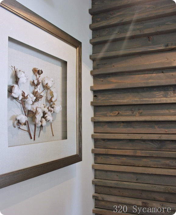 cotton framed on wall