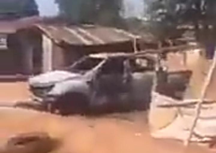 Unknown Gunmen Attack Adani Divisional Police HQ Enugu, Kill Cops, Set Vans And Building Ablaze (Photos,Video)