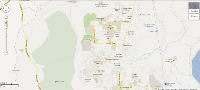 Infocity - Patia - Damana Square Area Map Bhubaneswar