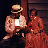 Rick Kelsey and Claudia Bertasso in LOOK HOMEWARD, ANGEL (R) - March 1994.  Property of The Schenectady Civic Players Theater Archive.